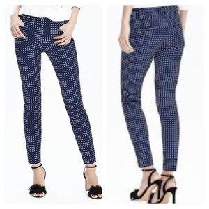 Banana Republic Sloan Blue print pants